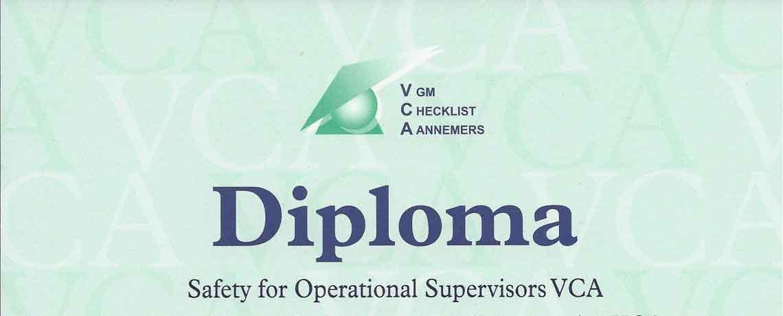 VCA diploma gehaald!
